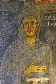 St Francis painted from life. Subiaco monastery.