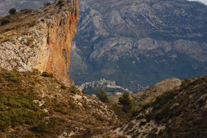 Looking down from the Aitana to Guadalest