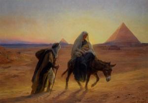 Flight into Egypt by Eugene-Alexis Girardet