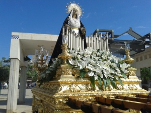 Blessed Virgin Mary in Crevillente before the procession
