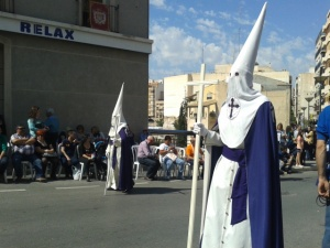 Penitents in Good Friday procession