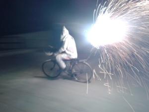 """Correfoc"" - the Finestrat fiestas fire run"