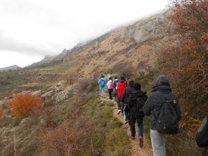 Year 11 descending from the Aitana ridge to Font de Partagat