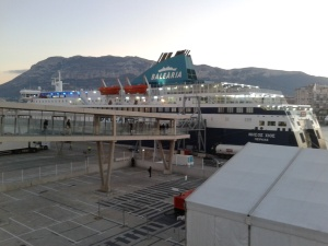 Balearia boat leaving Denia for Ibiza