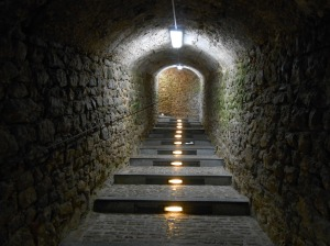 The tunnels leading to the fortified d'Alt Vila, Ibiza